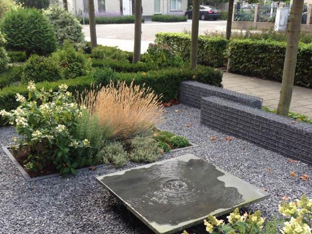Tuin en terras voorbeeld
